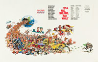 "It's a Mad, Mad, Mad, Mad World (United Artists, 1963). Special Horizontal Cinerama Poster (25"" X 39"")"