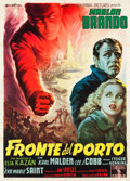 "Movie Posters:Academy Award Winners, On the Waterfront (Columbia, 1954). Italian 2 - Foglio (39"" X55"").. ..."