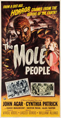 "Movie Posters:Science Fiction, The Mole People (Universal International, 1956). Three Sheet (41"" X78.5"").. ..."