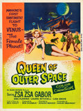 "Movie Posters:Science Fiction, Queen of Outer Space (Allied Artists, 1958). Silk Screen Poster(30"" X 40"").. ..."