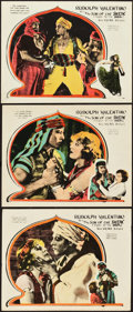 "Movie Posters:Adventure, The Son of the Sheik (United Artists, 1926). Lobby Cards (3) (11"" X14"").. ... (Total: 3 Items)"