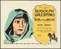 "Movie Posters:Adventure, The Son of the Sheik (United Artists, 1926). Title Lobby Card (11""X 14"").. ..."