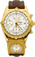 Timepieces:Wristwatch, Breitling Ref. K13048 Gold Chronomat. ...