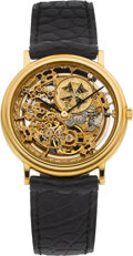 Timepieces:Wristwatch, Vacheron Constantin Ref. 43038/000J Very Fine Gent's Skeletonized Gold Automatic Wristwatch, circa 1994. ...