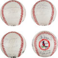 Autographs:Baseballs, Early 1980's St. Louis Cardinals Team Signed Baseballs & OneOther from The Stan Musial Collection....