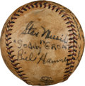 Autographs:Baseballs, 1945-46 US Navy Baseball Partial Team Signed Baseball from The StanMusial Collection....