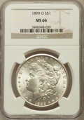 Morgan Dollars: , 1899-O $1 MS66 NGC. NGC Census: (1092/109). PCGS Population(1213/93). Mintage: 12,290,000. Numismedia Wsl. Price for probl...
