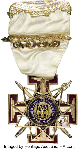 14-Karat Gold Masonic Teutonic Cross     Miscellaneous Medals and