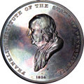 U.S. Presidents & Statesmen, 1874 Franklin Institute Silver Medal in Original Case of Issue...