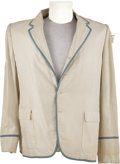 Movie/TV Memorabilia:Costumes, Jacket Worn by Eddie Foy Jr. An off-white suit jacket with lightblue piping, worn by character actor Eddie Foy Jr. in an un...(Total: 1 Item)