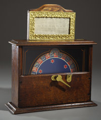 SALOON GRISWORLD STAR WHEEL OF FORTUNE TRADE STIMULATOR - Circa 1902 - Fine coin-operated cigar stimulator with 5 cents...