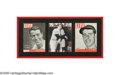 "Autographs:Others, Joe DiMaggio Signed ""Life Magazine"" Display from the SarabellaCollection. A pair of magazine covers featuring portraits of..."