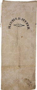 Advertising:Small Novelties, Large White Cloth Cotton (?) Sack,...