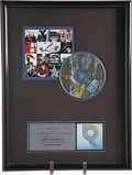 "Music Memorabilia:Awards, U2 ""Achtung Baby"" RIAA Platinum CD Award. Presented to Z104 tocommemorate the sale of more than 1,000,000 copies of their 1...(Total: 1 Item)"