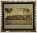 """Military & Patriotic:Indian Wars, IMPERIAL SIZE PHOTOGRAPH """"INDIAN WARS"""" SOLDIERS 1880'S - Greatmammoth size photograph of 27 Indian War soldiers, three offi...(Total: 1 Item)"""