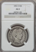 Barber Half Dollars: , 1892-O 50C AG3 NGC. NGC Census: (0/308). PCGS Population (40/490).Mintage: 390,000. Numismedia Wsl. Price for problem free...