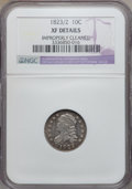 Bust Dimes: , 1823/2 10C Small Es -- Improperly Cleaned -- NGC Details. XF. NGCCensus: (4/76). PCGS Population (4/56). Mintage: 440,000....