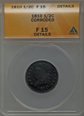 Half Cents: , 1810 1/2 C -- Corroded -- ANACS. Fine 15 Details. NGC Census:(2/74). PCGS Population (6/99). Mintage: 215,000. Numismedia ...