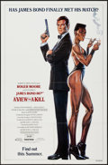 "Movie Posters:James Bond, A View to a Kill (United Artists, 1985). One Sheet (27"" X 41"")Advance Grace Jones Style. James Bond.. ..."