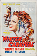 "Movie Posters:Romance, Winter Carnival (Variety Film Distributors, R-1946). One Sheet (27"" X 41""). Romance.. ..."
