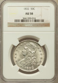 Bust Half Dollars: , 1832 50C Small Letters AU58 NGC. NGC Census: (459/496). PCGSPopulation (299/352). Mintage: 4,797,000. Numismedia Wsl. Pric...