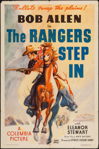 "The Rangers Step In (Columbia, 1937). One Sheet (27"" X 41""). Western"