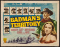 "Movie Posters:Western, Badman's Territory & Others Lot (RKO, 1946). Half Sheets (2) (22"" X 28"") & Insert (14"" X 36""). Western.. ... (Total: 3 Items)"