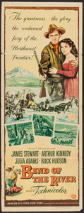 """Movie Posters:Western, Bend of the River (Universal International, 1952). Insert (14"""" X 36""""). Western.. ..."""