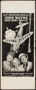"Movie Posters:War, Flying Tigers and Other Lot (Republic, R-1954). Insert (14"" X 36"")& Window Card (14"" X 22""). War.. ... (Total: 2 Items)"