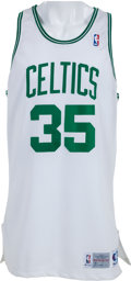 Basketball Collectibles:Uniforms, 1992-93 Reggie Lewis Game Worn Signed Boston Celtics Jersey. ...