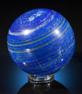 Lapidary Art:Eggs and Spheres, LARGE LAPIS SPHERE. Afghanistan...