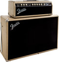 Musical Instruments:Amplifiers, PA, & Effects, 1963 Fender Bandmaster Blonde Guitar Amplifier Head and Cabinet....