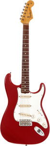 Musical Instruments:Electric Guitars, 1965 Fender Stratocaster Red Solid Body Electric Guitar, Serial # 124016. ...