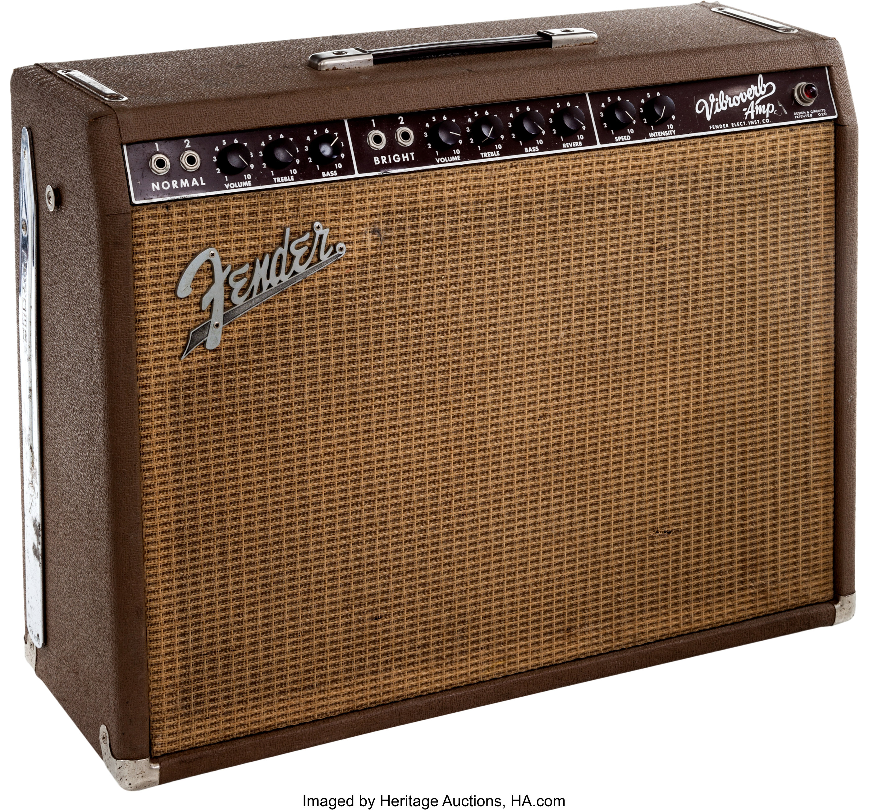 1964 Fender Vibroverb Brown Guitar Amplifier     Musical