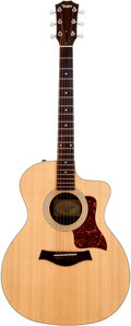 Musical Instruments:Acoustic Guitars, 2008 Taylor 214CE Natural Acoustic Guitar, Serial # 20081002232....