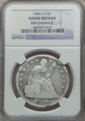 Seated Dollars: , 1846-O $1 -- Rim Damage -- NGC Details. Good. NGC Census: (2/145).PCGS Population (0/261). Mintage: 59,000. Numismedia Wsl...
