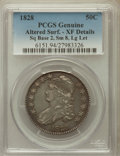 Bust Half Dollars, 1828 50C Square Base 2, Small 8, Large Letters -- Altered Surface-- PCGS Genuine. XF Details. NGC Census: (19/191). PC...
