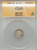 Seated Half Dimes: , 1841 H10C -- Cleaned -- ANACS. AU50 Details. NGC Census: (1/160). PCGS Population (1/113). Mintage: 1,150,000. Numismedia W...