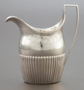 Silver Holloware, British:Holloware, A PETER & ANN BATEMAN GEORGE III SILVER CREAM PITCHER. Peter& Ann Bateman, London, England, circa 1798-1799. Marks: (lionp...