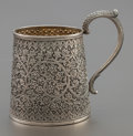Silver Holloware, Continental:Holloware, AN INDIAN SILVER AND SILVER GILT HANDLED CUP . Circa 1900.Unmarked. 3-1/2 inches high (8.9 cm). 5.1 ounces. Provenance:. ...