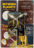 Books:Science Fiction & Fantasy, Robert A. Heinlein. Four First Juvenile Titles. New York: Scribnersand Doubleday, 1948-1956. Titles include: Space Cadet;...(Total: 5 Items)