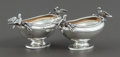 Silver Holloware, American:Open Salts, A PAIR OF GORHAM SILVER FIGURAL OPEN SALTS. Gorham ManufacturingCo., Providence, Rhode Island, 1887. Marks: (lion-anchor-G)...(Total: 2 )