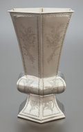 Silver Holloware, Continental, A PORTUGUESE SILVER HEXAGONAL VASE . After 1938. Marks:(eagle-833). 11-7/8 inches high (30.2 cm). 43.0 ounces.Provenance...