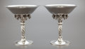 Silver & Vertu:Hollowware, A PAIR OF GEORG JENSEN DANISH SILVER GRAPEVINE PATTER COMPOTES. Georg Jensen, Inc., Copenhagen, Denmark, post 19... (Total: 2 Items)