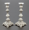 Silver Holloware, Continental, A PAIR OF CONTINENTAL SILVER CANDLESTICKS . Circa 1900. Marks:800, S. 9-1/8 inches high (23.2 cm). 32.3 ounces. Prove...(Total: 2 Items)