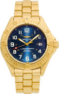 Timepieces:Wristwatch, Breitling Ref. K10040 Limited Edition 18k Gold Super Ocean Automatic. ...