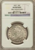 Bust Half Dollars, 1827 50C Square Base 2 -- Obverse Scratched -- NGC Details. AU. NGCCensus: (128/1508). PCGS Population (193/1098). Mintage...