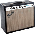 Musical Instruments:Amplifiers, PA, & Effects, Circa 1969 Fender Princeton Reverb Black Guitar Amplifier. ...