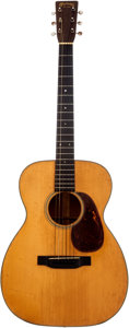 Musical Instruments:Acoustic Guitars, 1939 Martin 00-18 Natural Acoustic Guitar, Serial # 73599. ...
