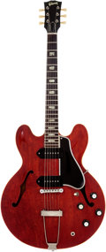 Musical Instruments:Electric Guitars, 1962 Gibson ES-330TDC Cherry Semi-Hollow Body Electric Guitar,Serial # 98379. ...